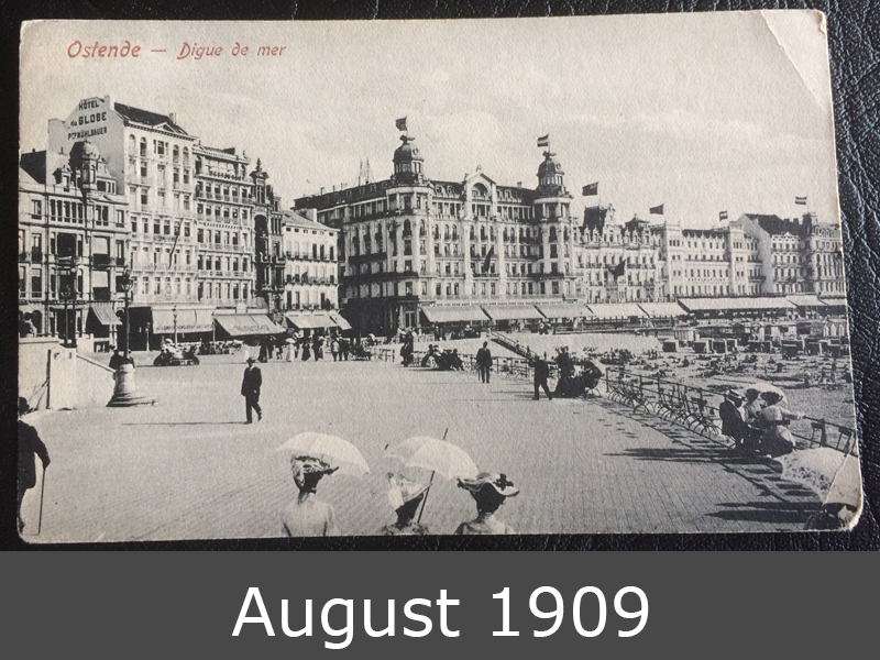 Project Postcard Ostende August 1909 front