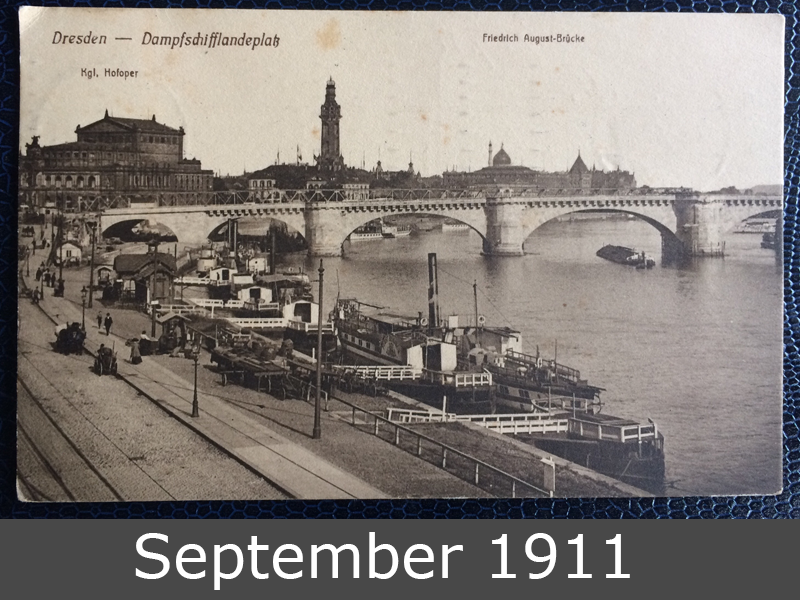 Project Postcard September 1911 Dresden steamships front
