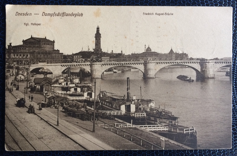 Project Postcard September 1911 Dresden steamships