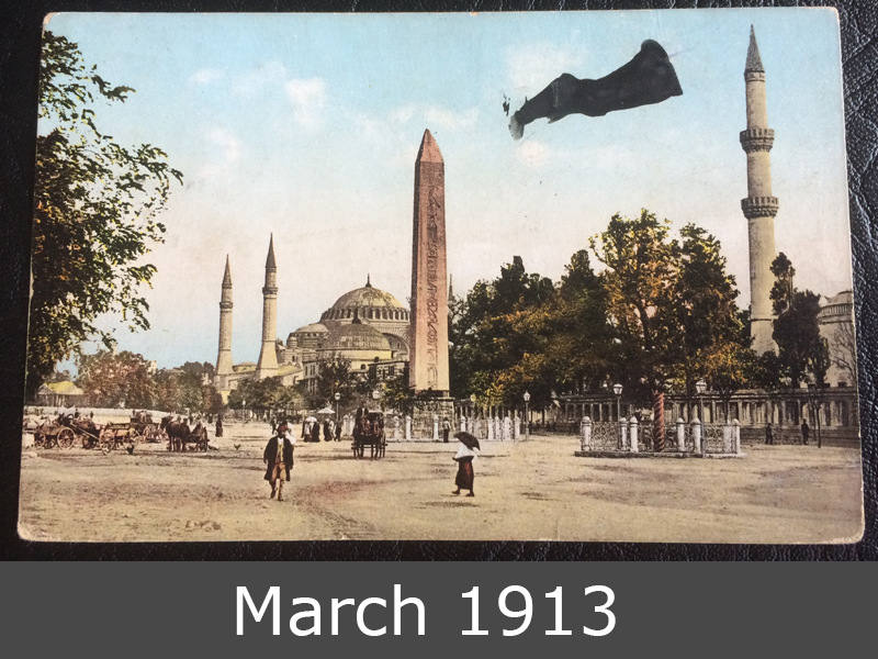 Project Postcard March 1913 Istanbul front
