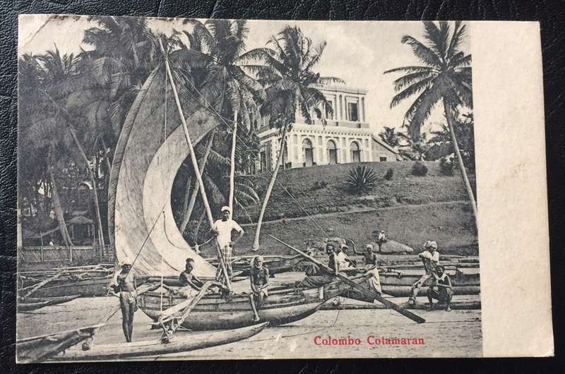 Project Postcard April 1926 Colombo Ceylon Sri Lanka fishermen