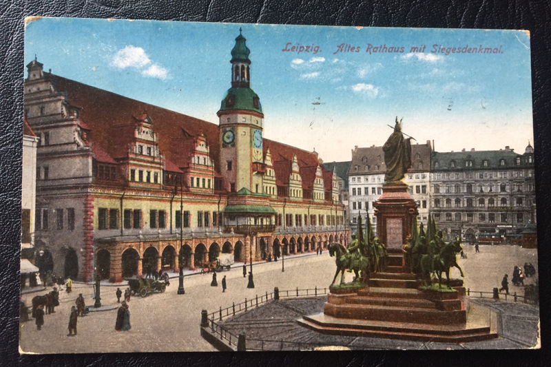 Project Postcard June 1926 Leipzig townhall