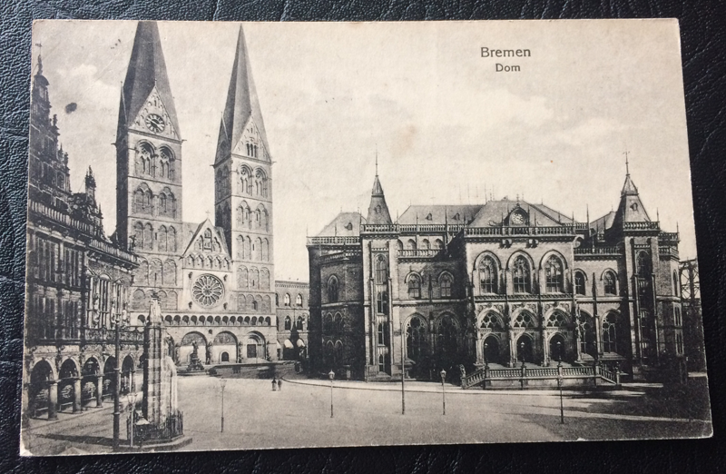 Project Postcard December 1926 Bremen Cathedral