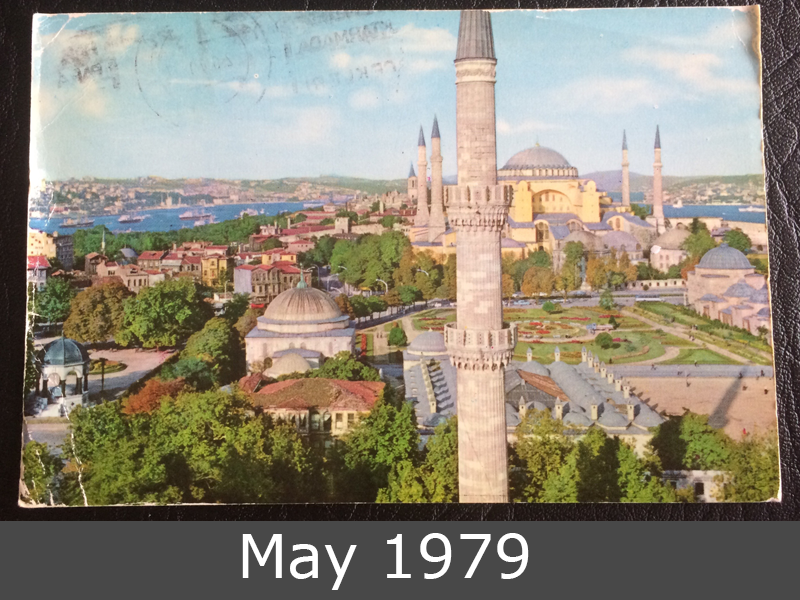 Project Postcard May 1979 Hagia Sophia in Istanbul front