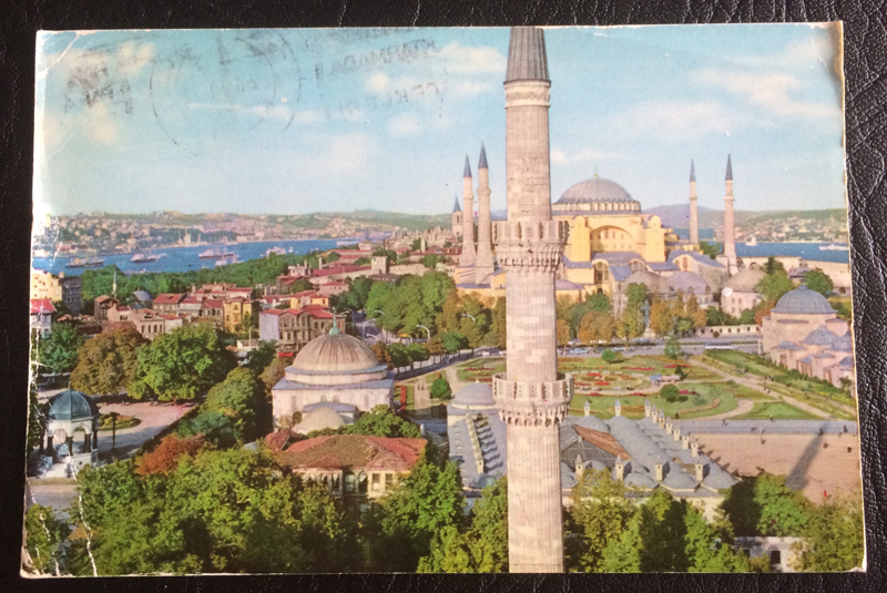 Project Postcard May 1979 Hagia Sophia in Istanbul