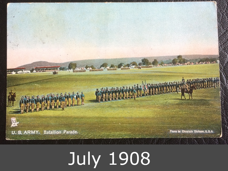 Project Postcard July 1908 US Army Parade front