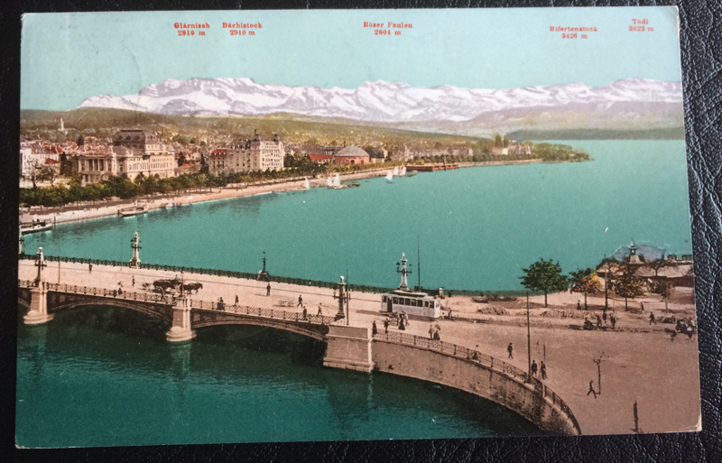 Project Postcard September 1908 Quaibridge Zurich