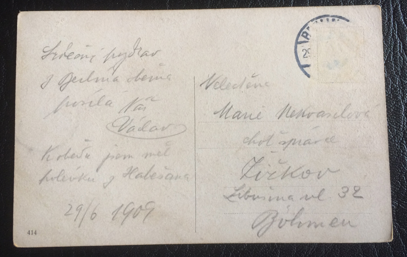 Project Postcard June 1909 Berlin Unter den Linden back