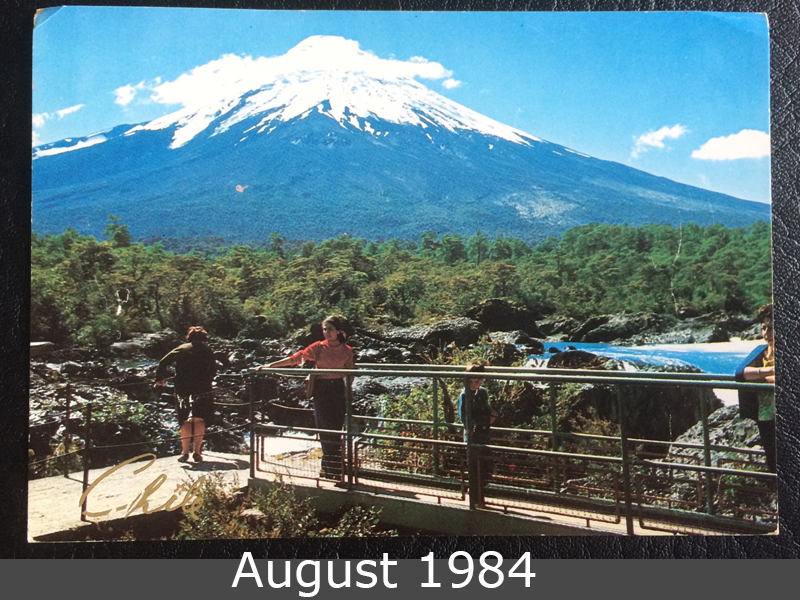 Project Postcard August 1984 Volcano Osorno Chile front