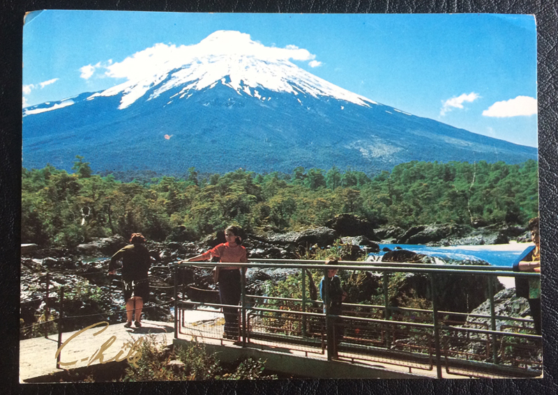 Project Postcard August 1984 Volcano Osorno Chile