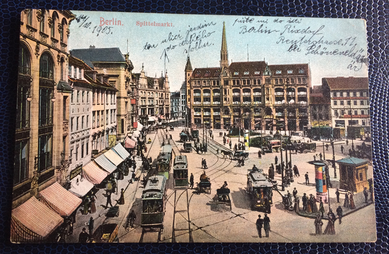 Project Postcard October 1905 Berlin Germany Spittelmarkt