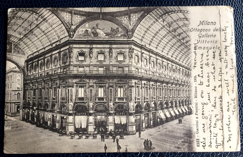 Project Postcard April 1906 Milan Galleria Vittorio Emanuele