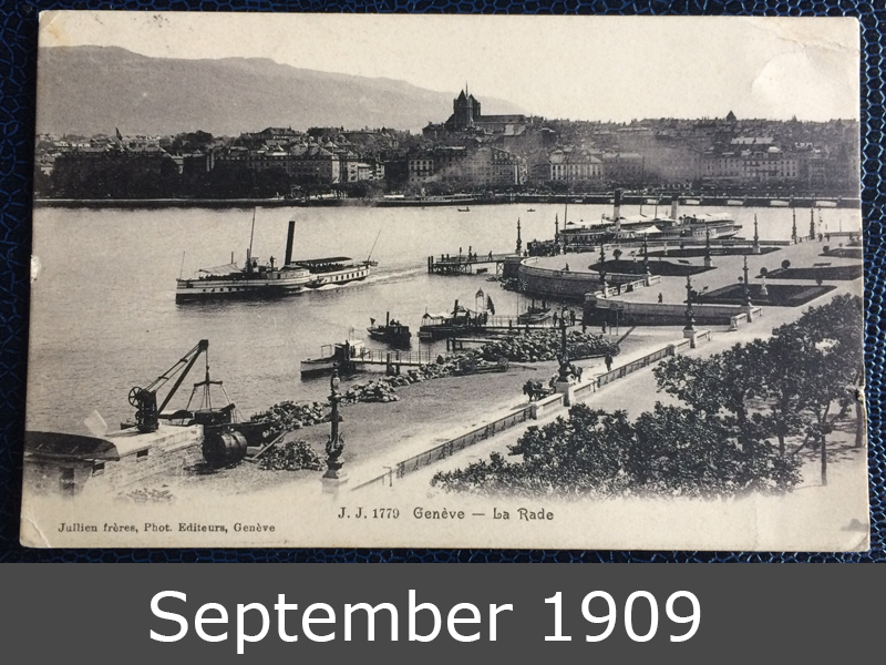 Project Postcard September 1909 Geneva port front