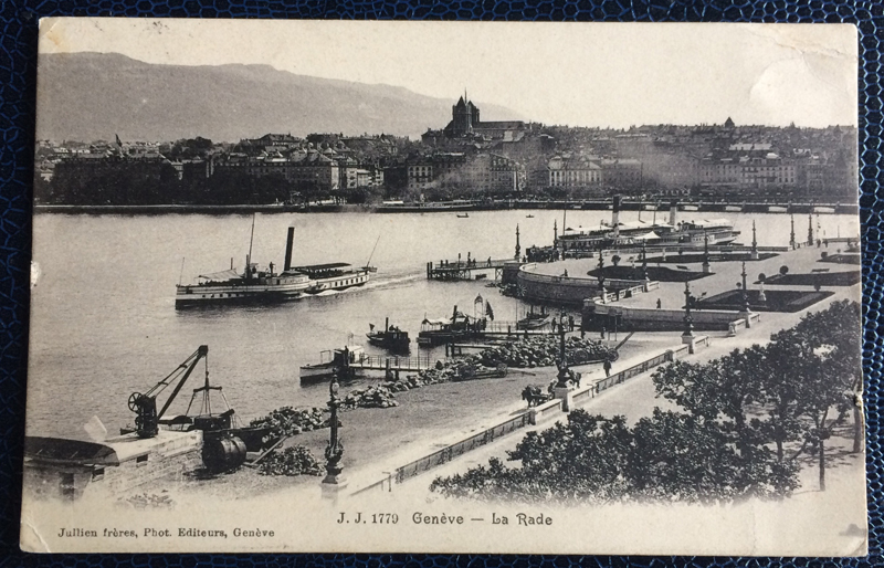 Project Postcard September 1909 Geneva port