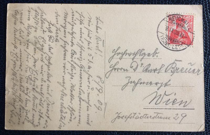 Project Postcard September 1909 Geneva port back