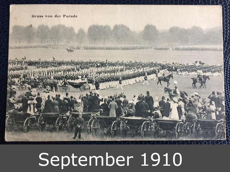 Project Postcard September 1910 Military Parade Germany front