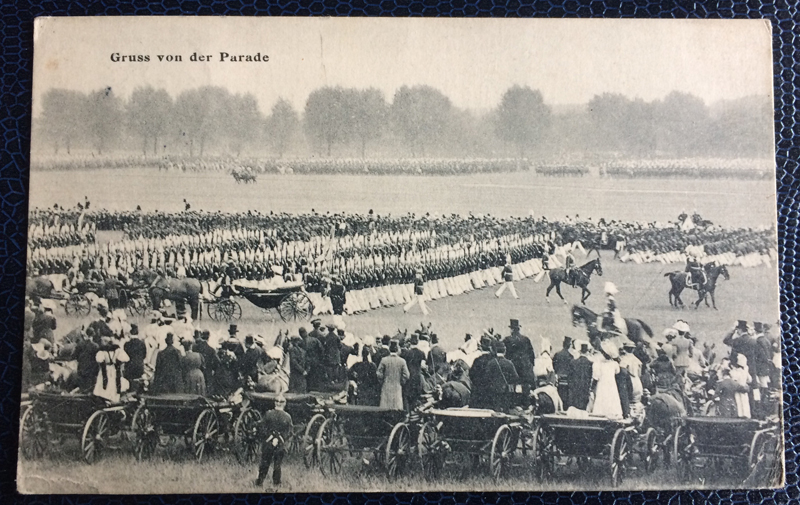 Project Postcard September 1910 Military Parade Germany