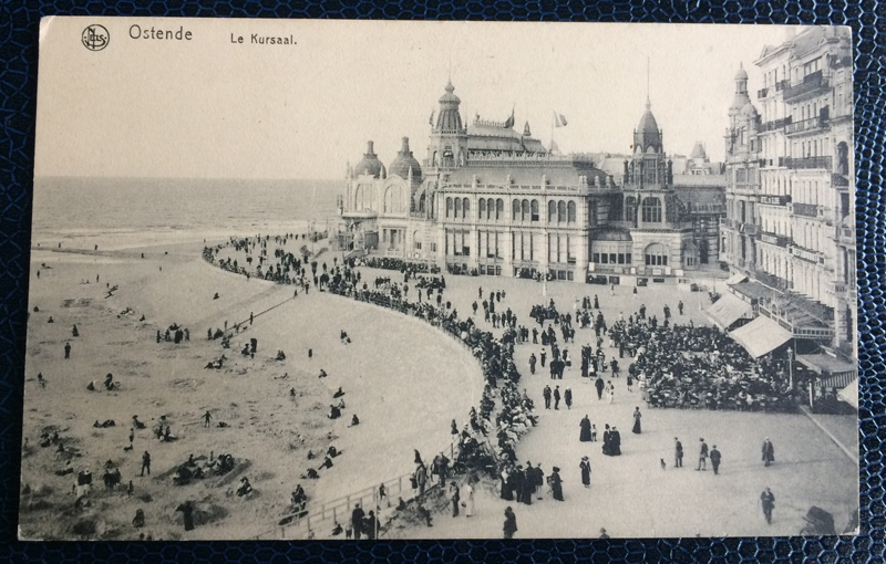 Project Postcard August 1916 Ostende Belgium Feldpost