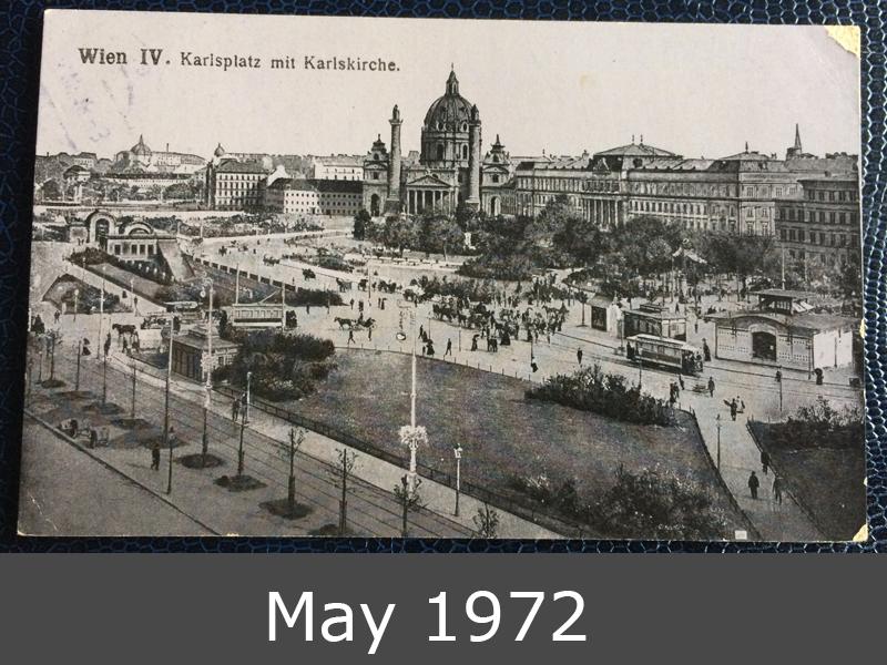 Project Postcard July 1918 Karlsplatz Vienna Feldpost front