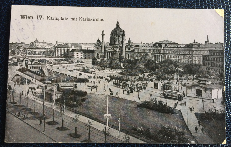 Project Postcard July 1918 Karlsplatz Vienna Feldpost