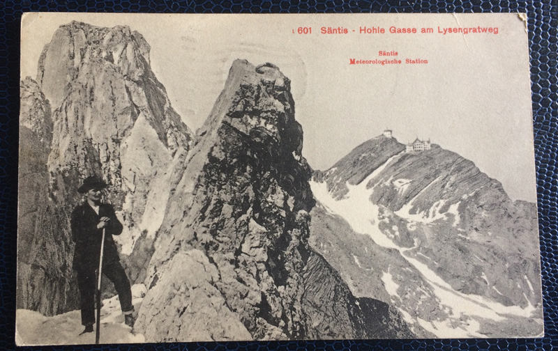 Project Postcard October 1925 Switzerland Mountains Säntis