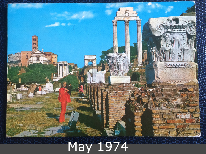Project Postcard May 1974 Rom Forum Roman front
