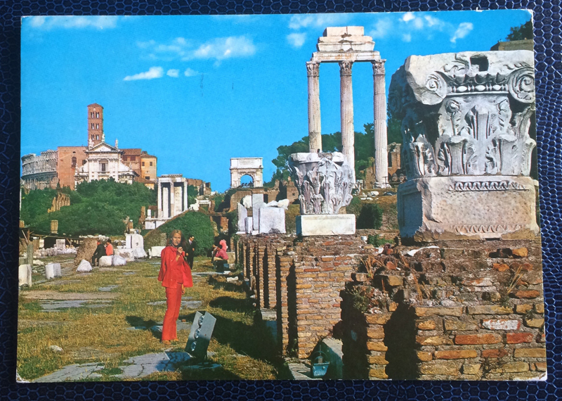 Project Postcard April 1974 Rom Forum Roman
