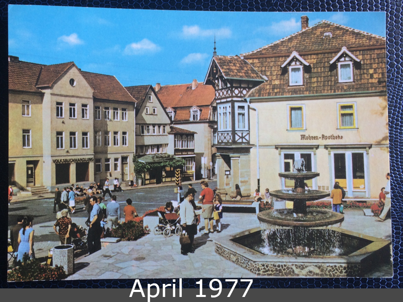 Project Postcard April 1977 Bad Salzungen GDR East Germany front