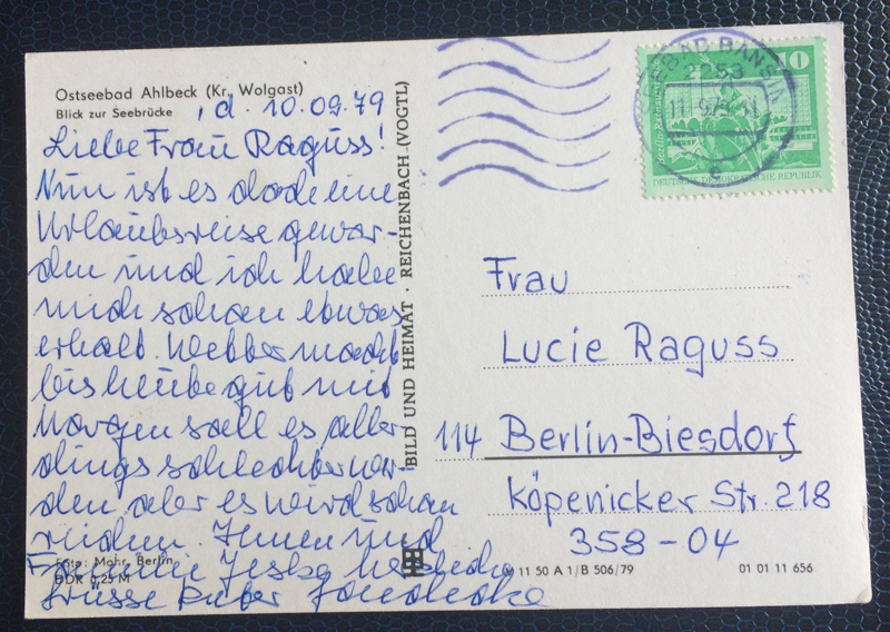 Project Postcard September 1979 Baltic Sea Bath Ahlbeck East Germany back