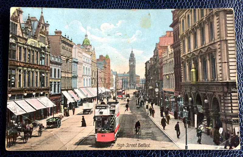 Project Postcard July 1914 High Street Belfast