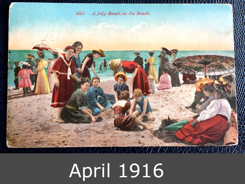 Project Postcard April 1916 beachlife in USA front