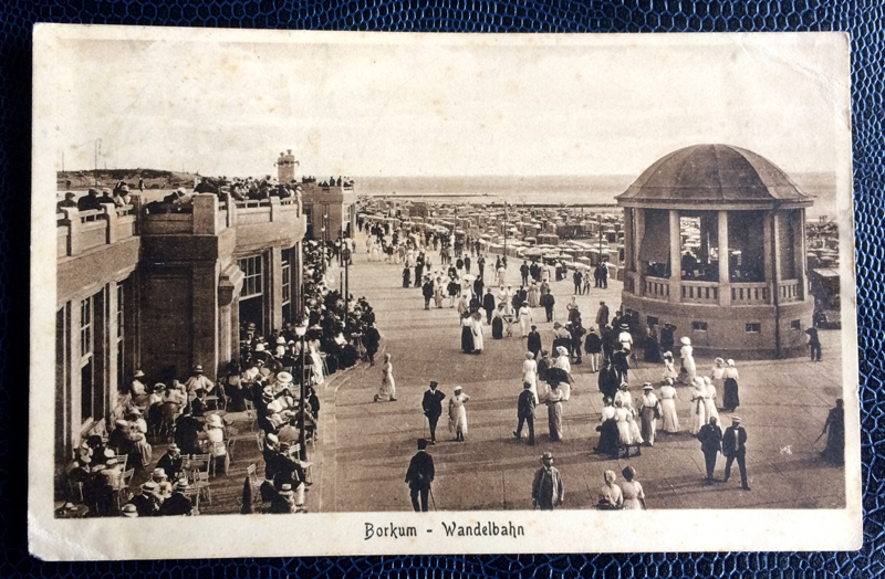 Project Postcard June 1920 Borkum Germany Wandelbahn Beach