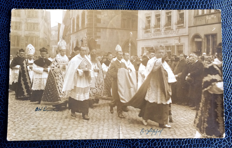 Project Postcard November 1920 Freiburg Procession Cardinal