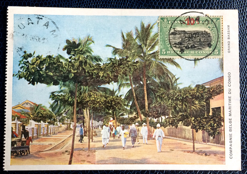 Project Postcard November 1922 Belgian Congo