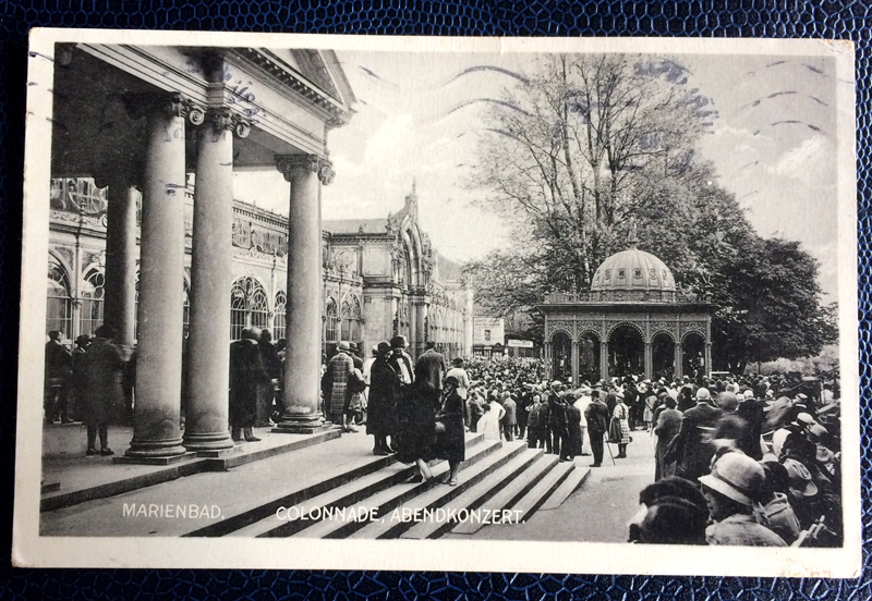 Project Postcard August 1932 Marienbad Bohemia Czech Republic
