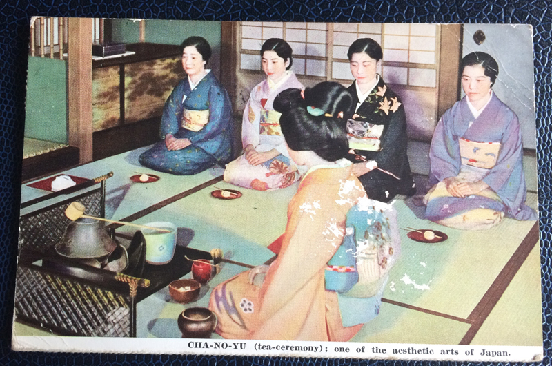 Project Postcard February 1937 tea ceremony Japan