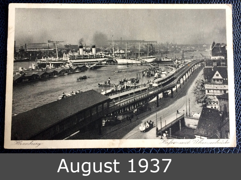 Project Postcard August 1937 Hamburg port front