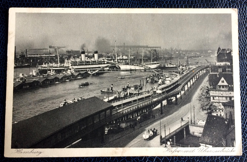 Project Postcard August 1937 Hamburg port