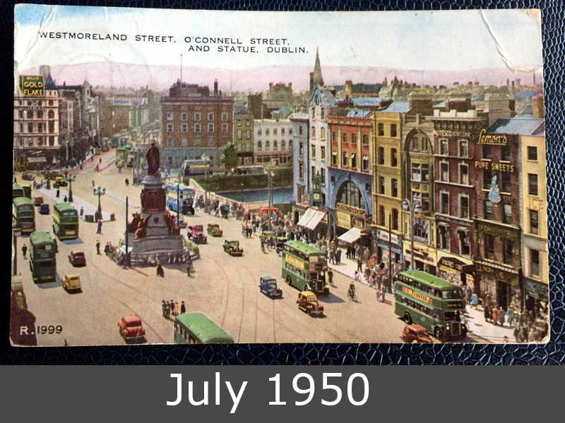 Project Postcard July 1950 Dublin Ireland front