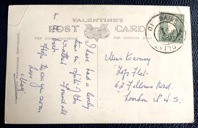 Project Postcard July 1950 Dublin Ireland back