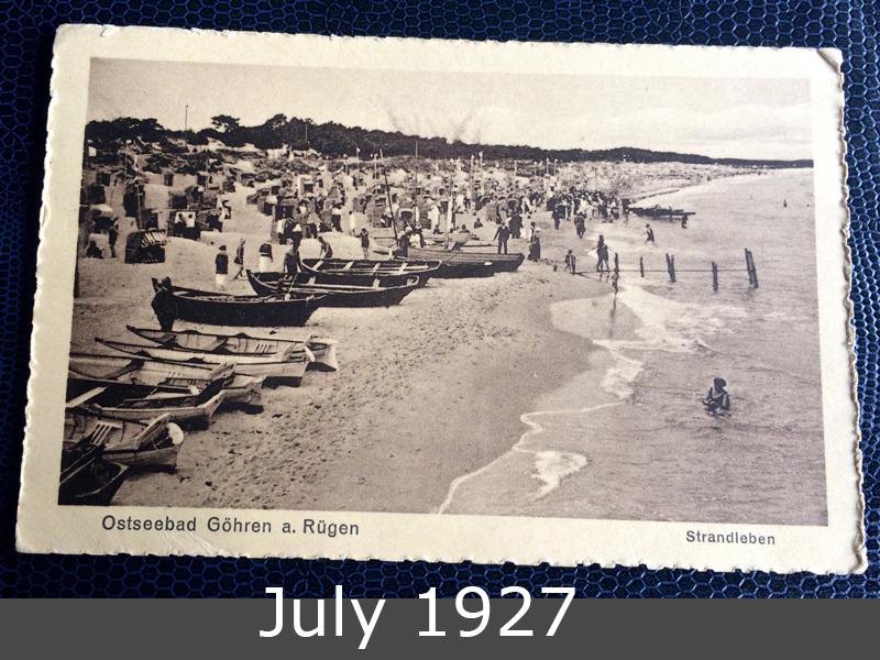 Project Postcard July 1927 Göhren Rügen Strand front