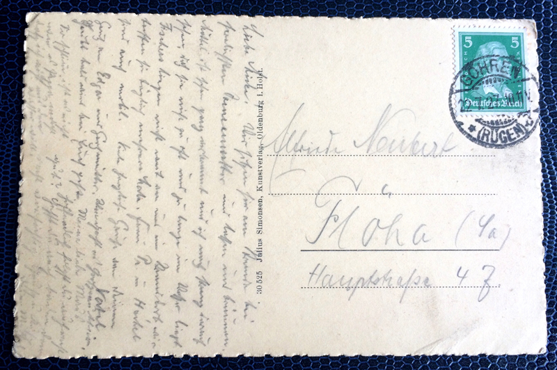 Project Postcard July 1927 Göhren Rügen Strand back