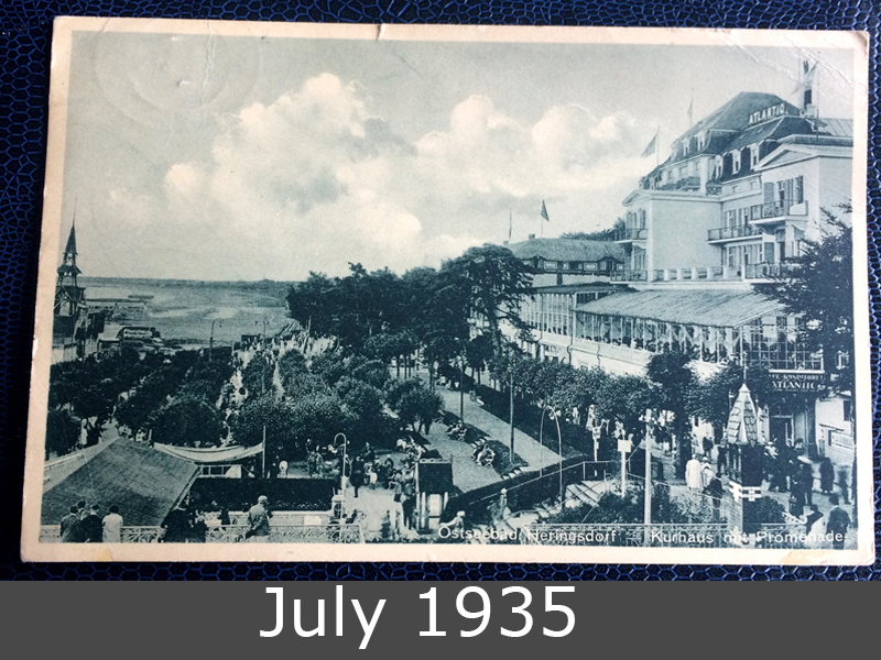 Project Postcard July 1937 Ostseebad Heringsdorf Kurhaus