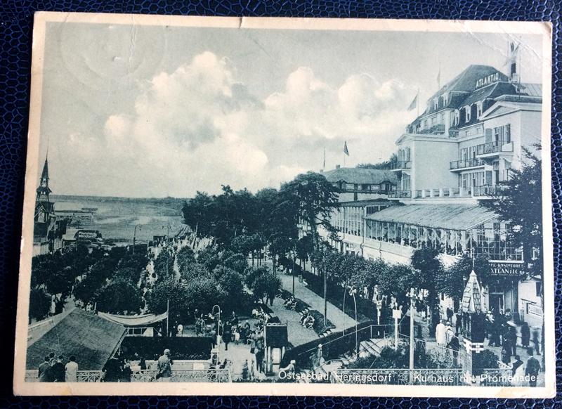 Project Postcard July 1937 Ostseebad Heringsdorf Kurhaus front