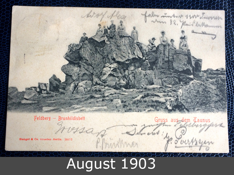 Project Postcard August 1903 Feldberg Taunus Germany front