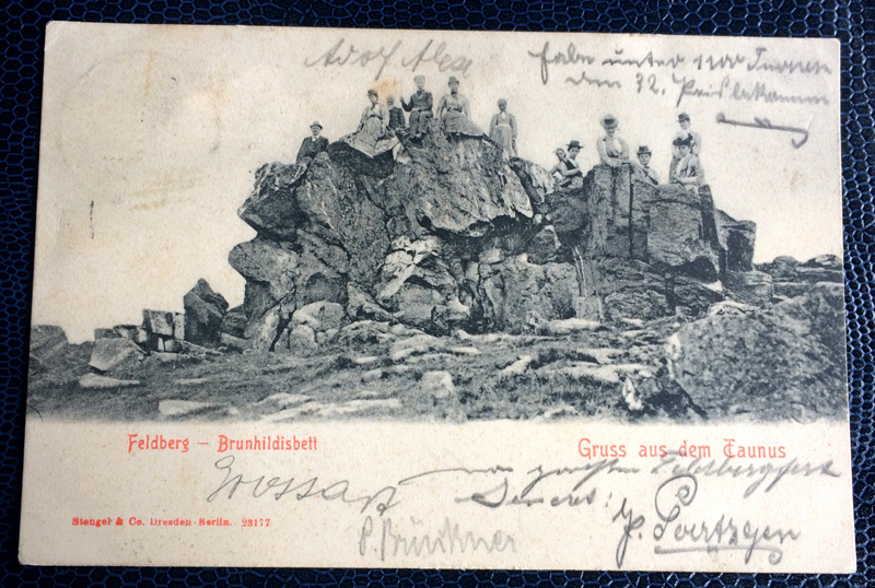 Project Postcard August 1903 Feldberg Taunus Germany