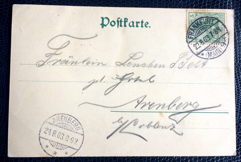 Project Postcard August 1903 Feldberg Taunus Germany back