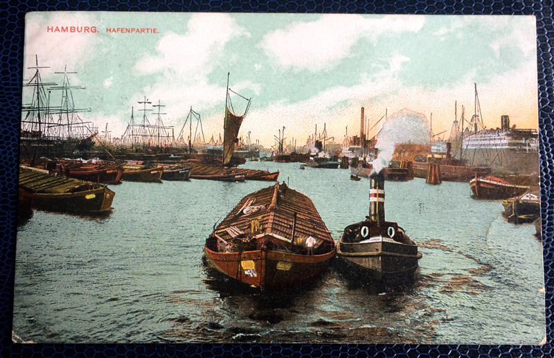 Project Postcard May 1908 Hamburg Port