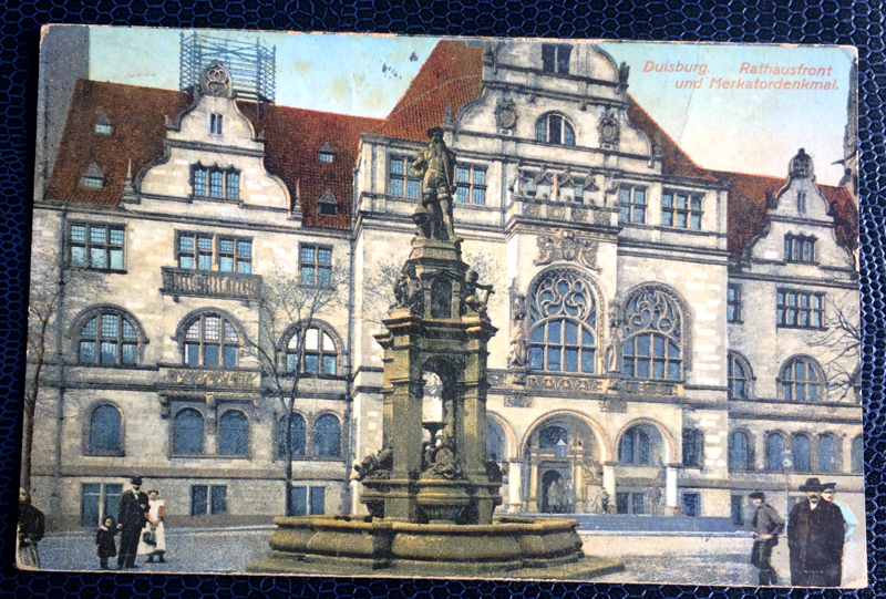 Project Postcard June 1914 Duisburg Germany town hall