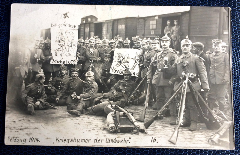 Project Postcard August 1914 Soldiers on the way to the front